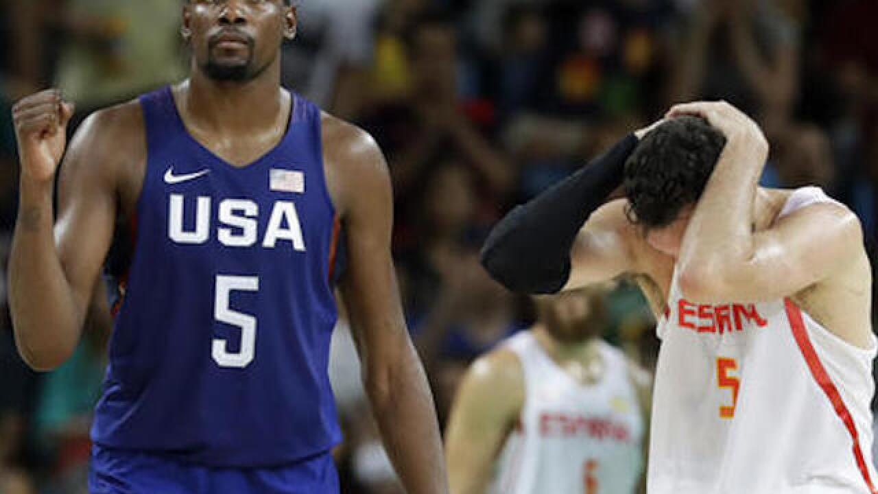 US closing in on Olympic gold; beats Spain in men's basketball