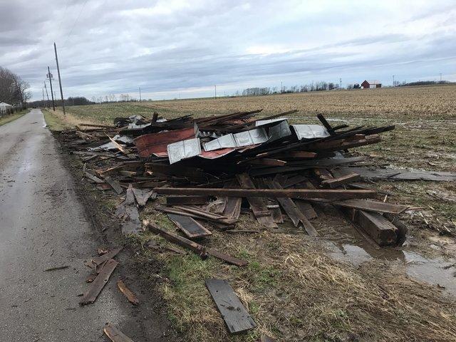 Possible tornado damage in Brown County village of Hamersville