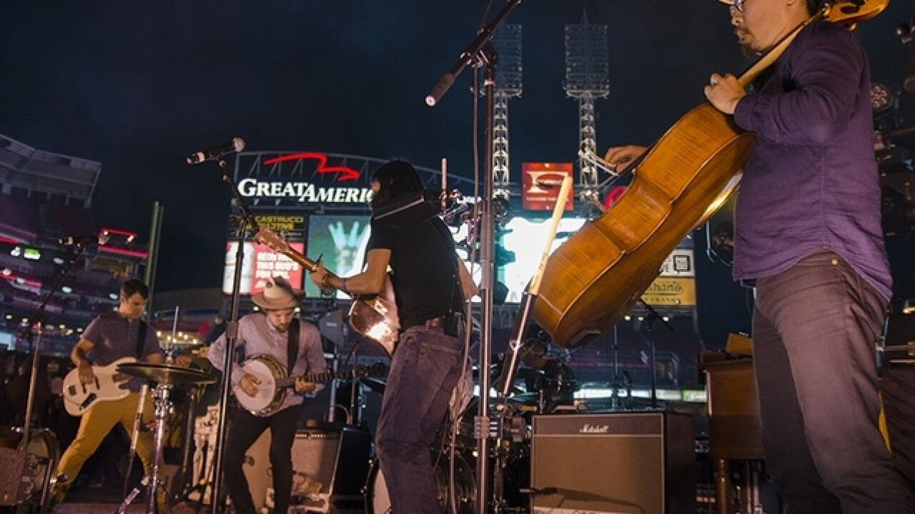 PHOTOS: The Avett Brothers wow crowd after Saturday's Reds game at Great American Ball Park
