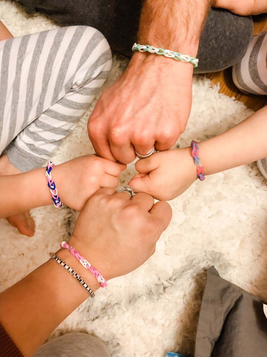 Friendship bracelets:  a sign of hope for the future