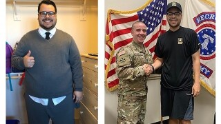 Florida man drops 160 pounds to sign up for the Army