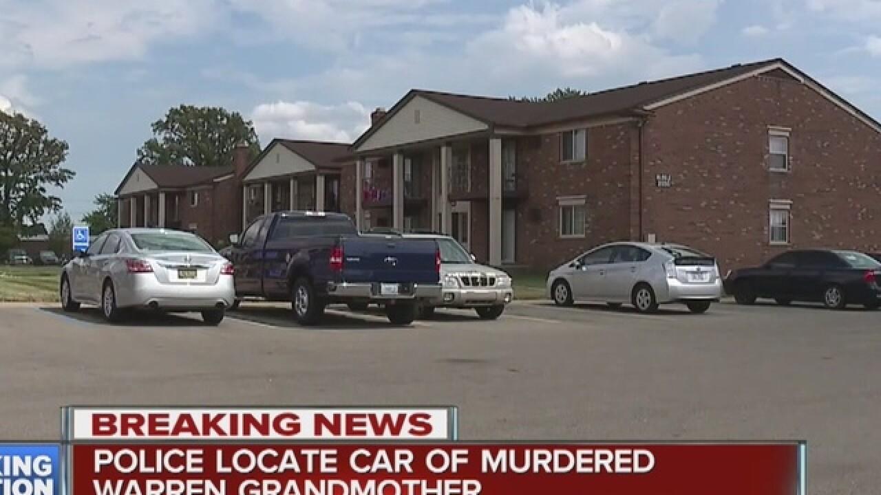 Police locate car of Warren woman murdered