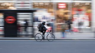 Bicyclist on street