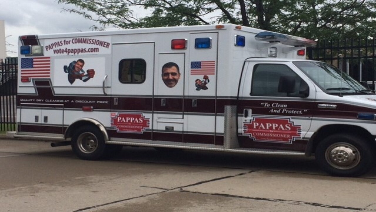 You'll see this politician in an ambulance