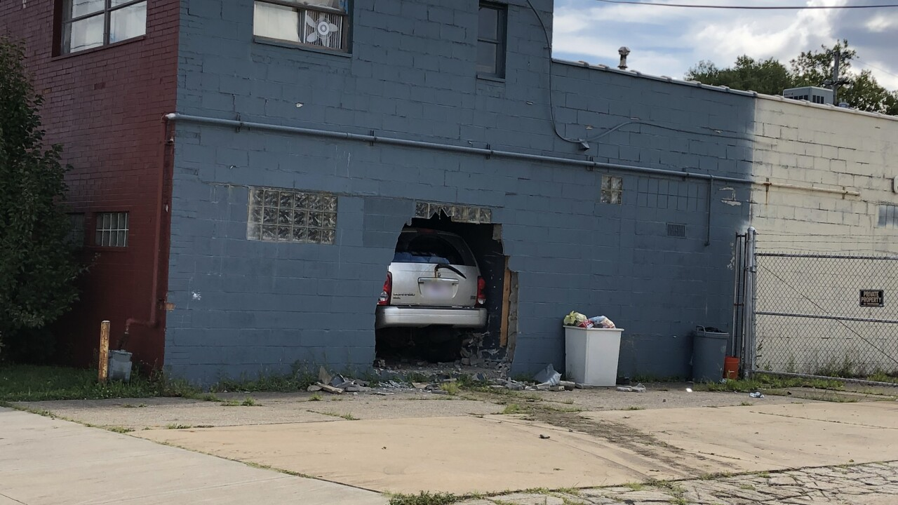 Vehicle into building
