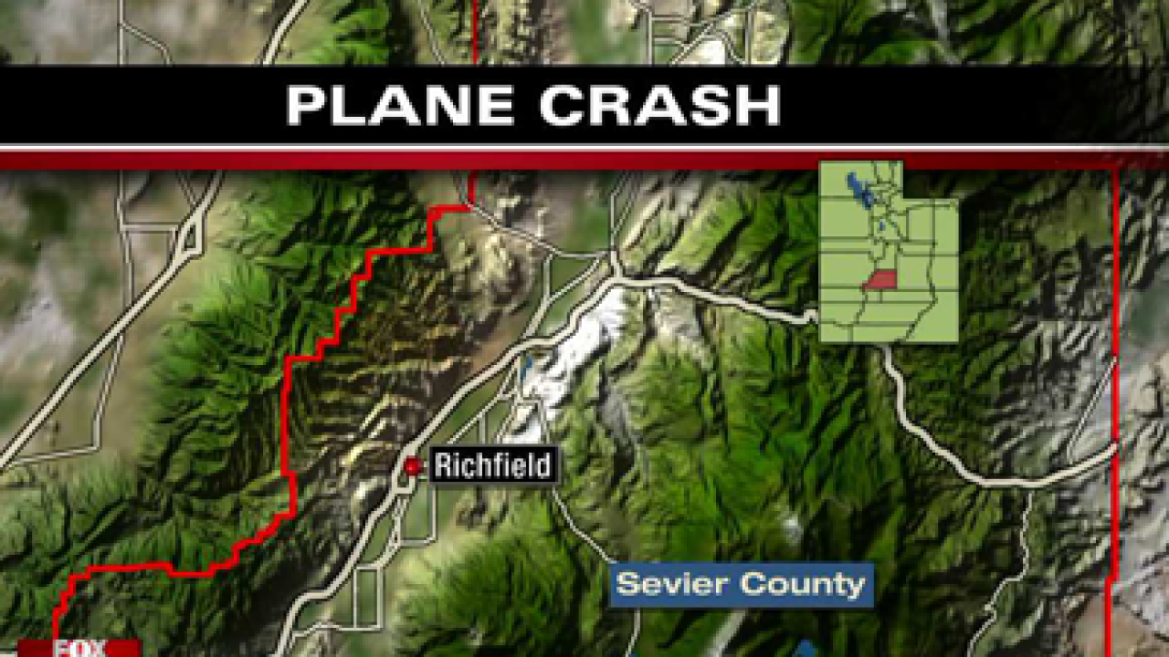 Two dead after small plane crashes near Richfield