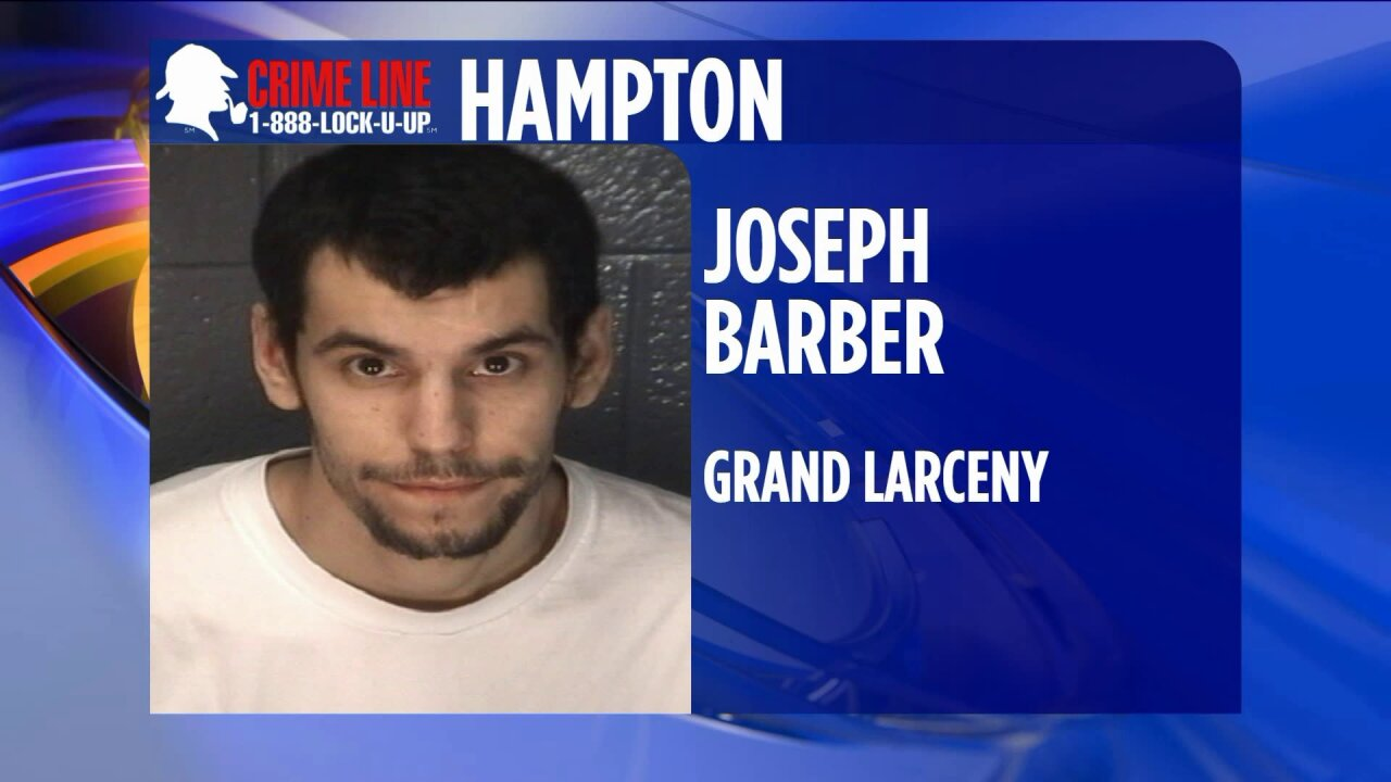 Hampton Police searching for suspect in car washtheft