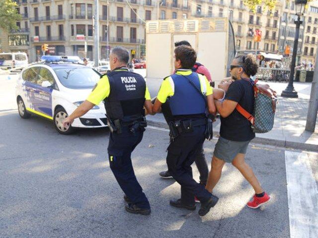 PHOTOS: Van slams into crowd in Barcelona, Spain