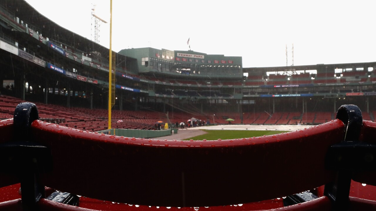 Fenway_Park_rain_World Series - Los Angeles Dodgers v Boston Red Sox - Game One