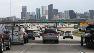 downtown denver traffic I-25 2019 pollution emissions interstate