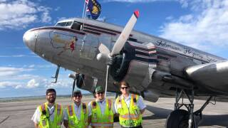 "Miss Montana plane returns to Montana after ""D-Day"" ceremony"
