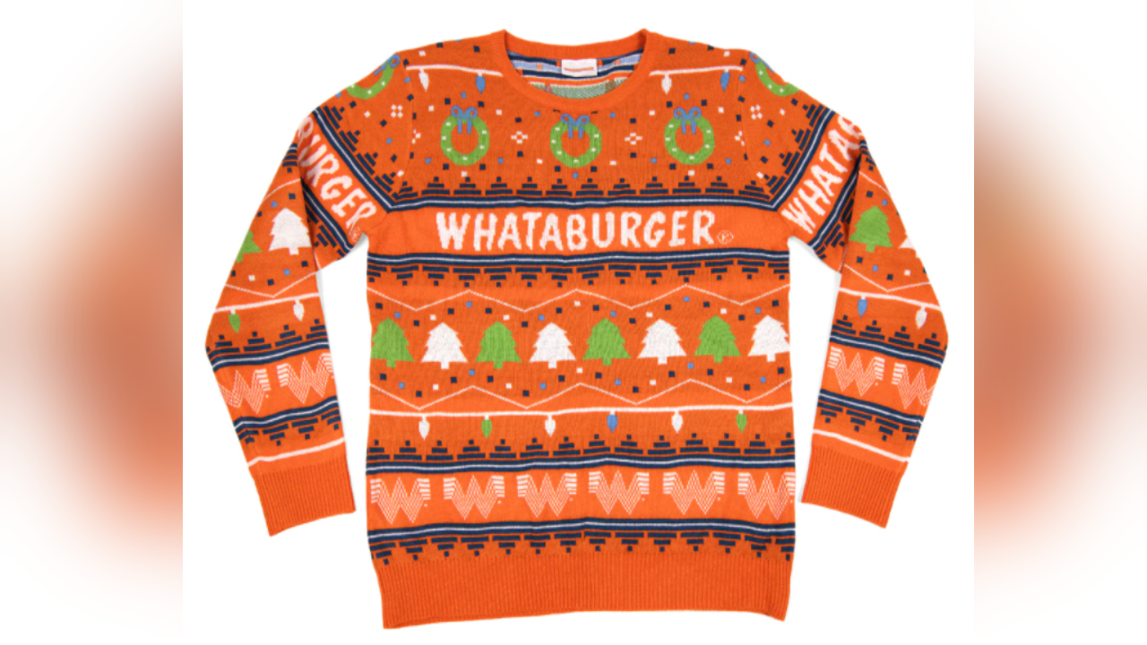 Whataburger's new holiday sweater for 2020