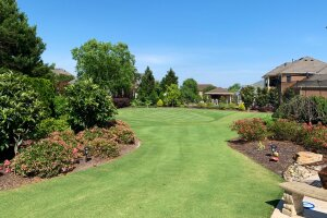 PGA TOUR golfer Marc Leishman's backyard green in Virginia Beach