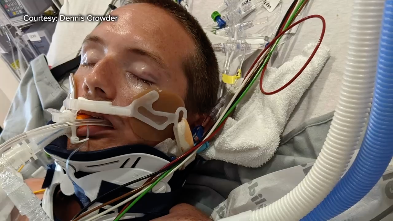 Dennis Crowder was given a 1% chance of surviving a catastrophic motorcycle crash