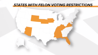 Felons could play a major role in the presidential election