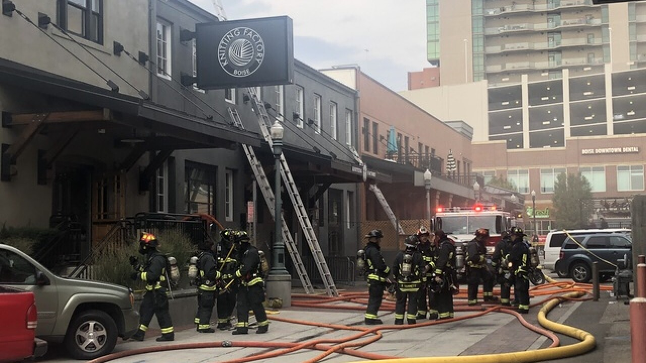 Benefit concert for Knitting Factory after fire