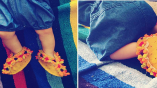 These Handmade Baby Taco Booties Are Incredibly Adorable