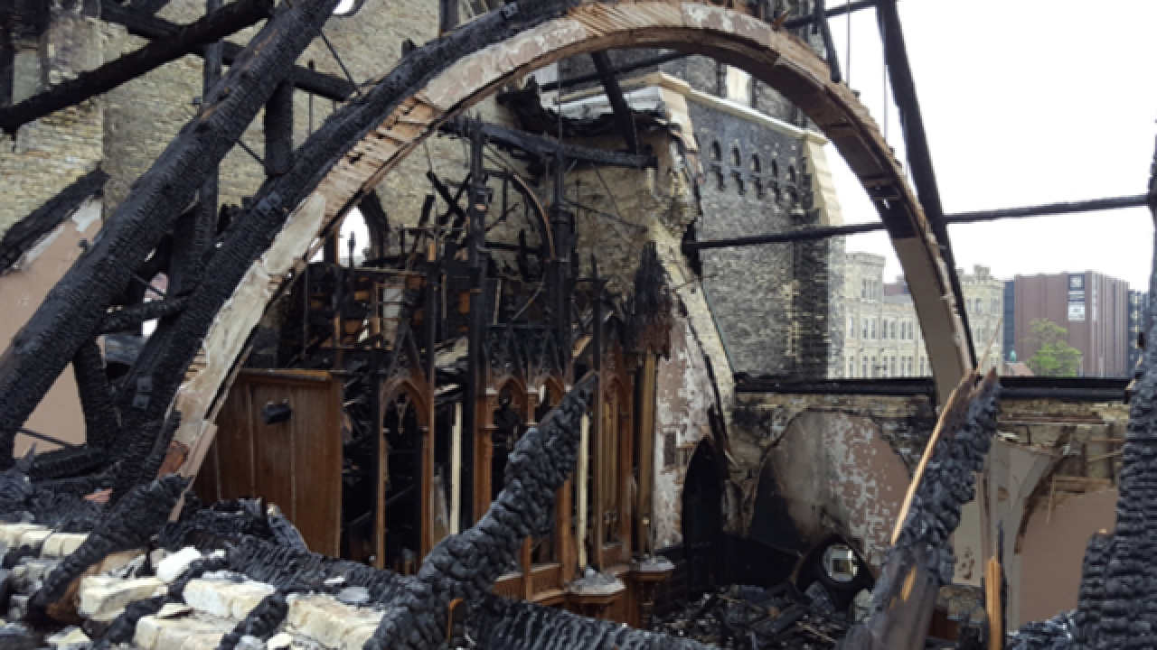 Trinity Lutheran Church won't be torn down after fire