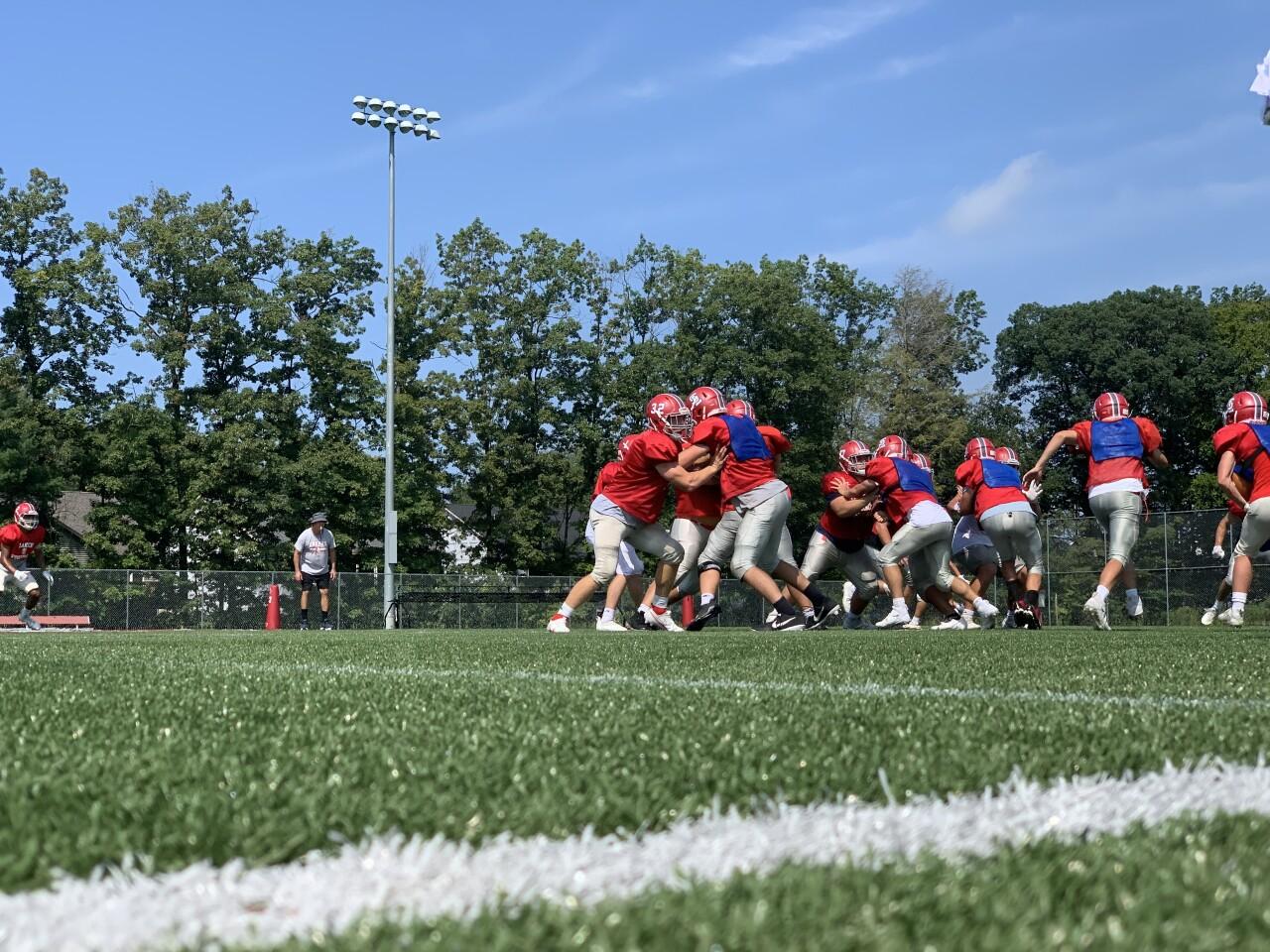 Spring Lake football practice
