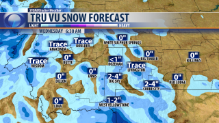 Tuesday Morning Forecast: Mild with PM snow