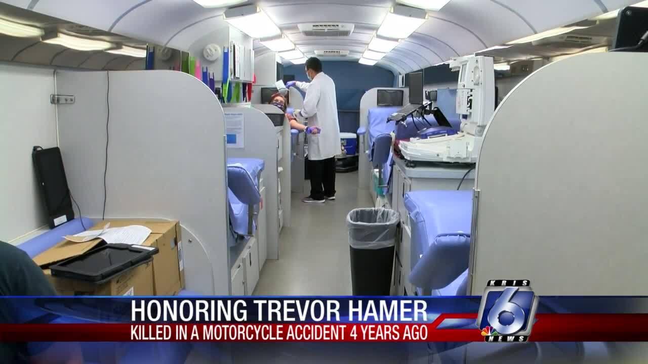 Trevor Hamer blood drive