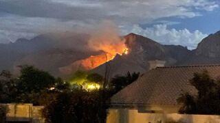 Crews battling brush fires near Pusch Ridge, Tortolita Mountains