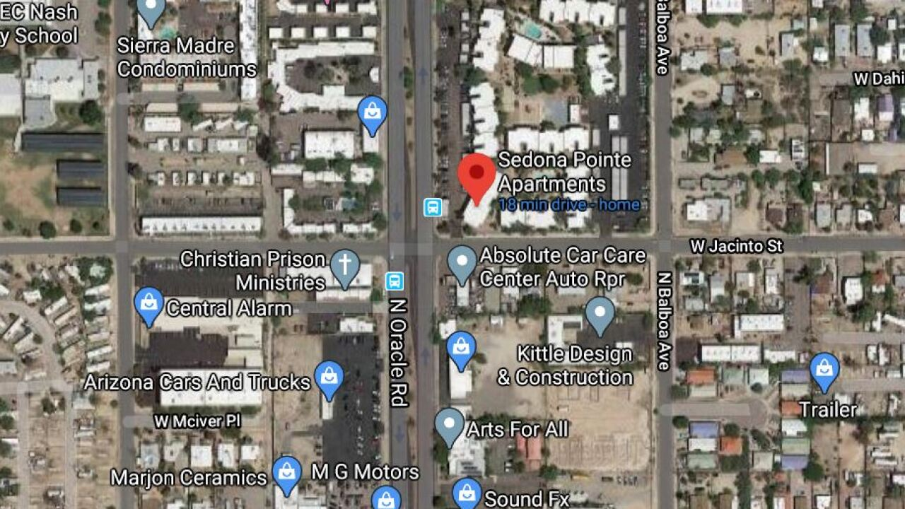 Tucson police investigated a homicide at an apartment complex on Oracle Road Thursday. Photo via Google Maps.