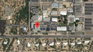 A roofing company employee working at a Canyon del Oro High School building died after shooting himself Monday.