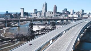 The Cleveland skyline