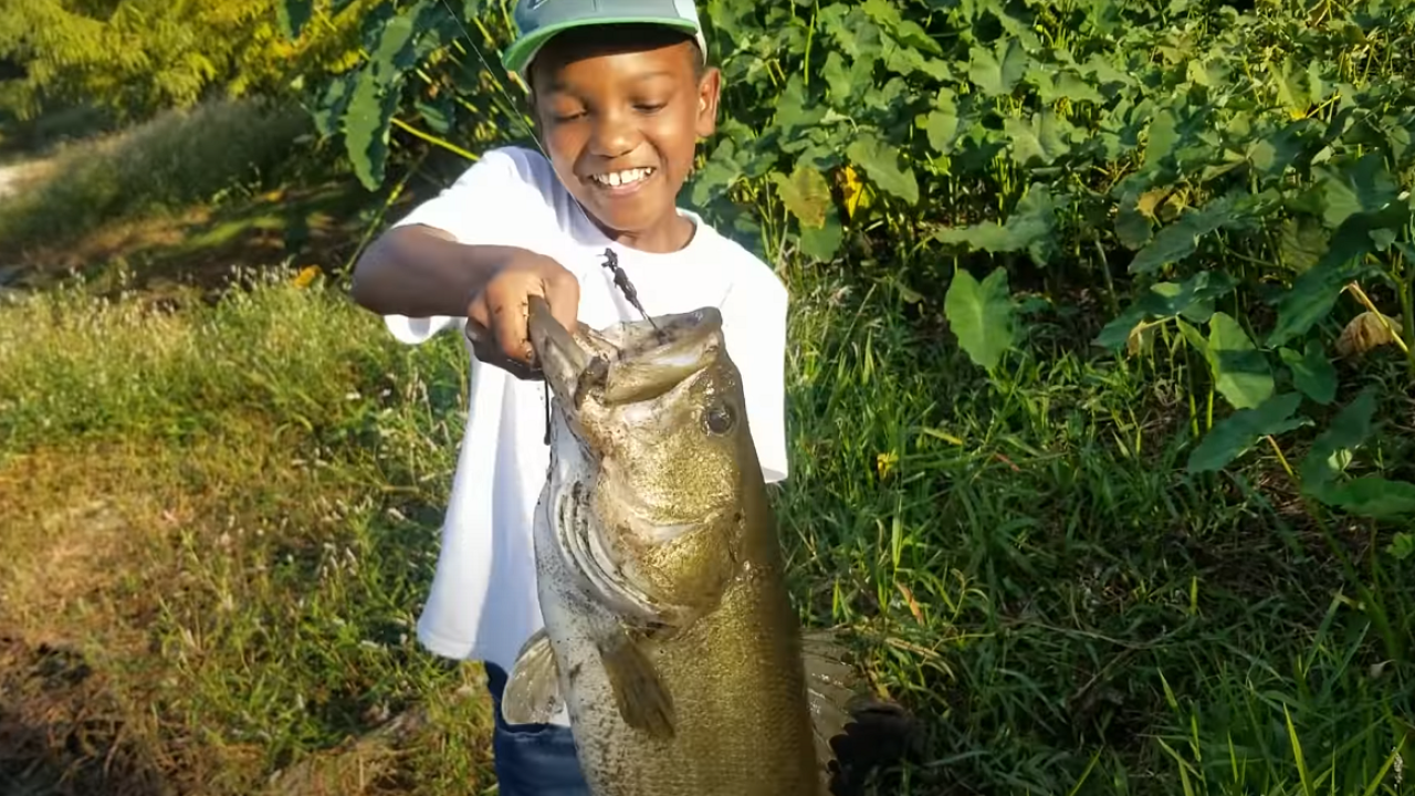 Quincy boy who went viral after big catch featured in Bass Pro Shops Super Bowl commercial.PNG