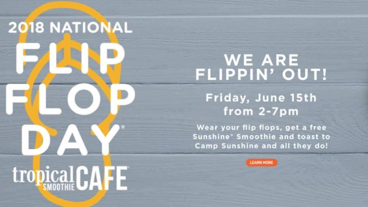 65c121f55708a Get a free smoothie from Tropical Smoothie Cafe on National Flip Flop Day