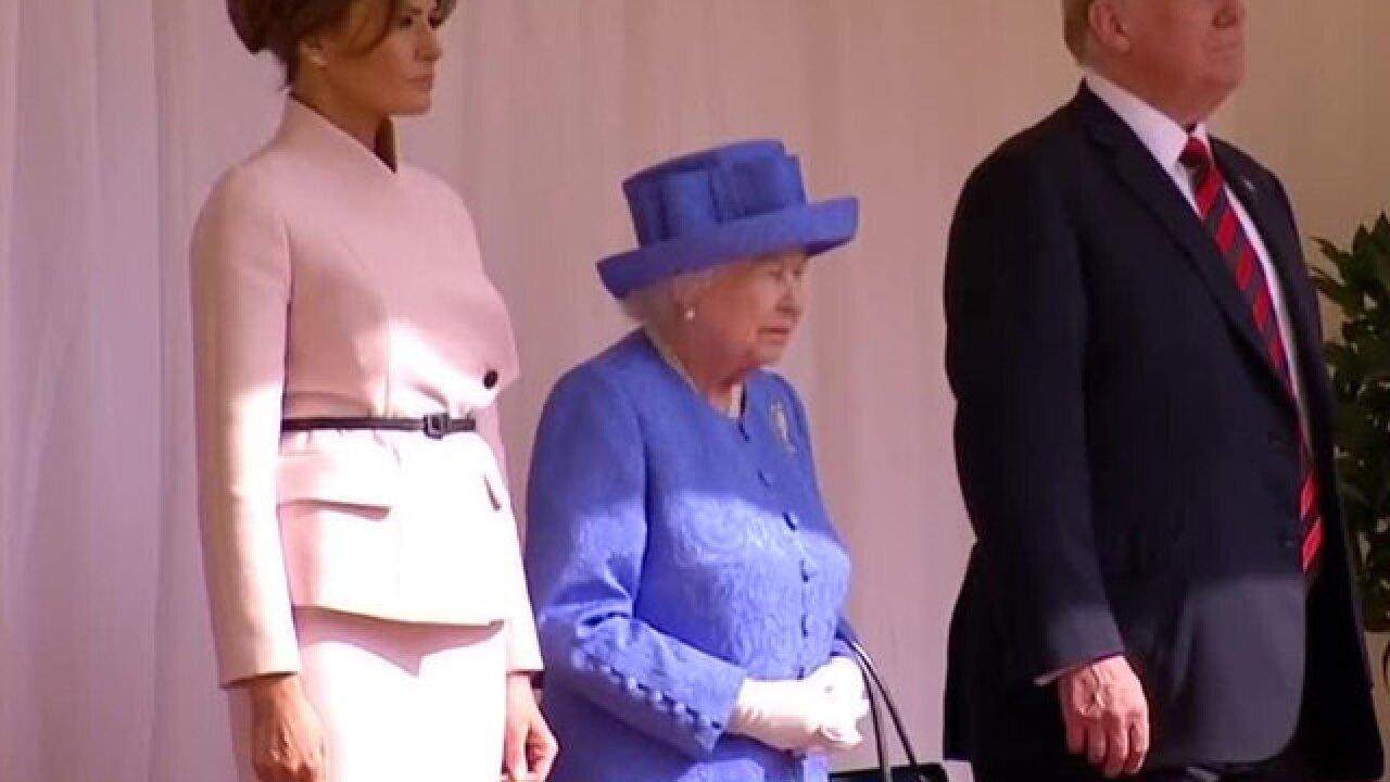 President Trump meets with Queen Elizabeth II