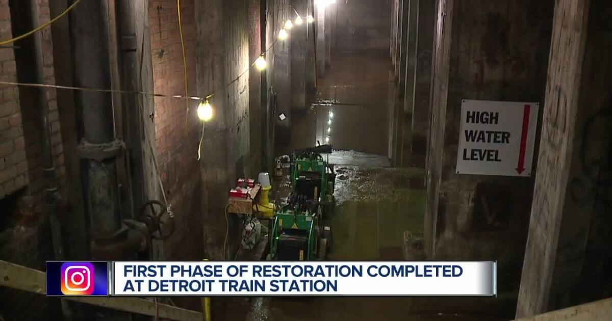 First restoration phase of Michigan Central Train Depot completed