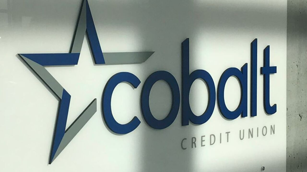 cobalt credit union sign