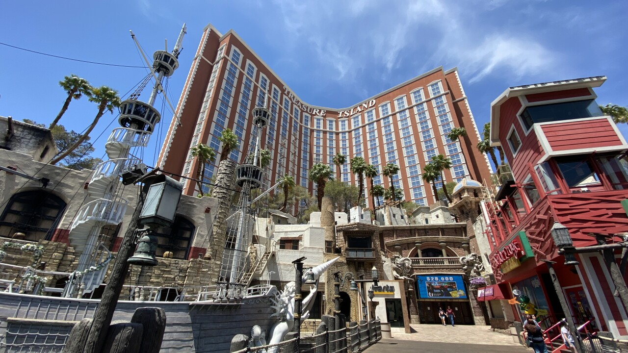 Treasure Island is located on the Las Vegas Strip as seen in May 2021