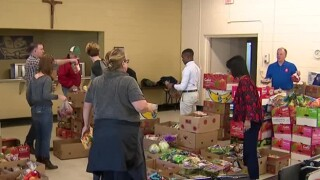 NC5 Team Members Volunteer At Food Bank