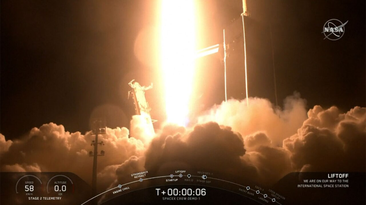 WPTV SpaceX Crew Dragon launch 030219