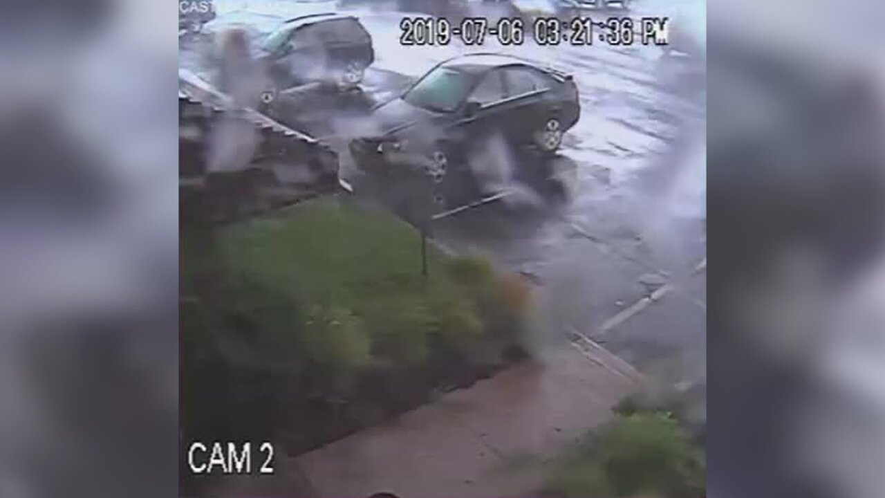 A tornado briefly touched down in New Jersey and its fierce winds flipped a car