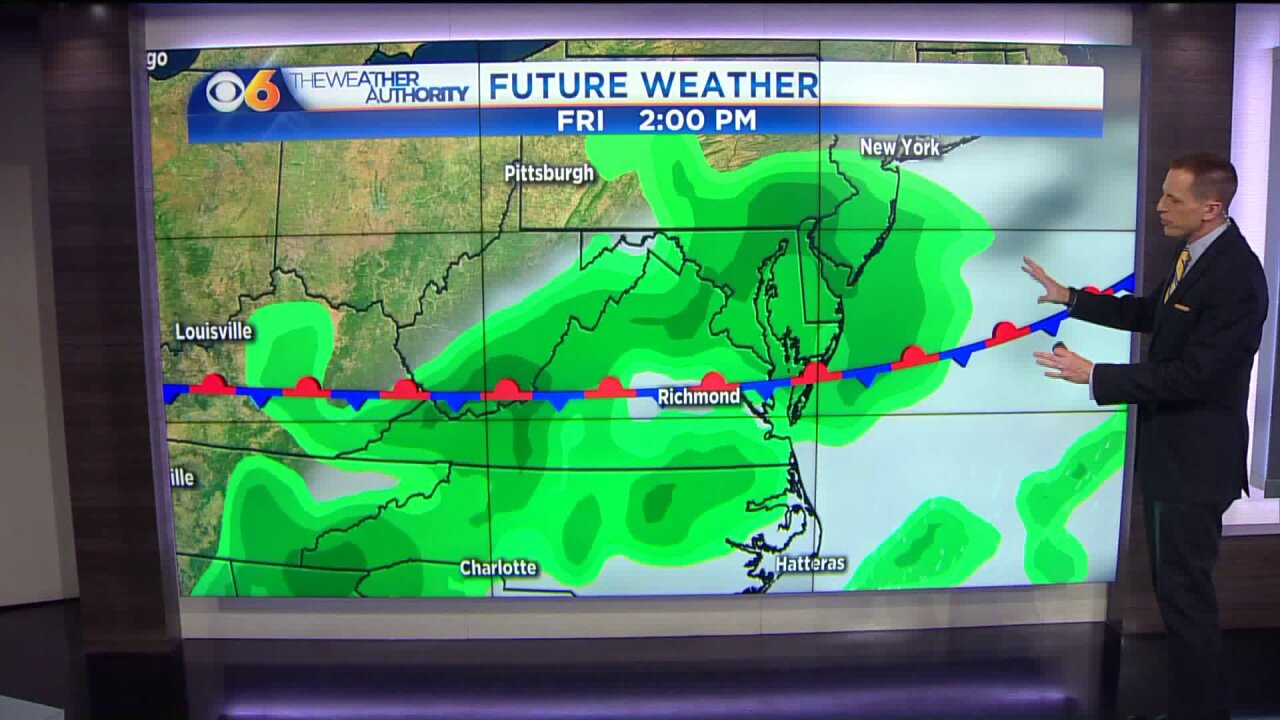 Cold front will bring storms, coolertemperatures