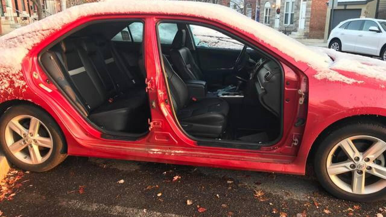 Patterson Park couple's car doors stolen