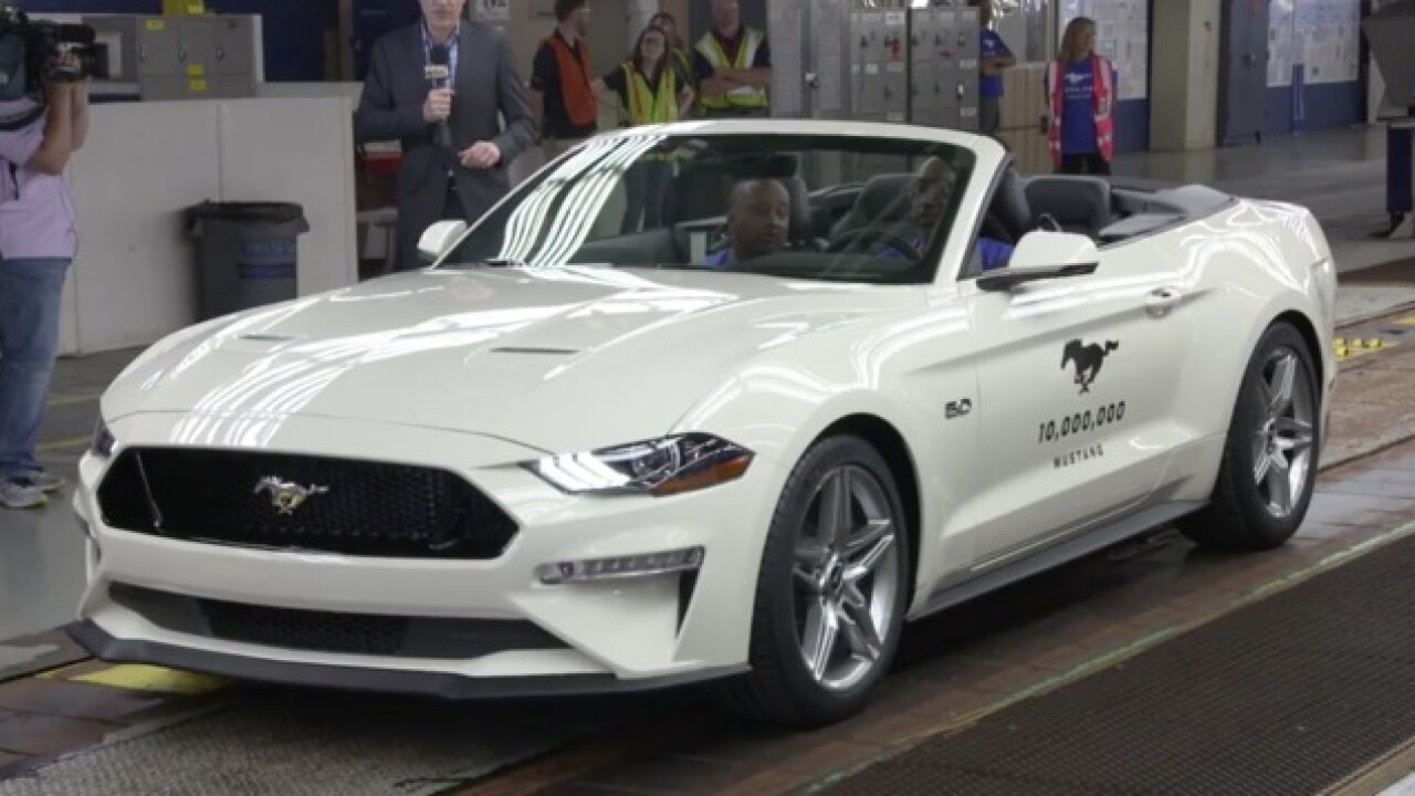 Ford celebrates its 10 millionth Mustang