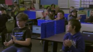 Meadowlark Elementary School awarded One Class At A Time check