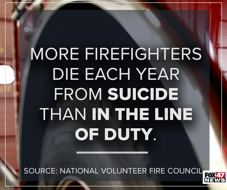 More firefighters die every year from suicide than in the line of duty.