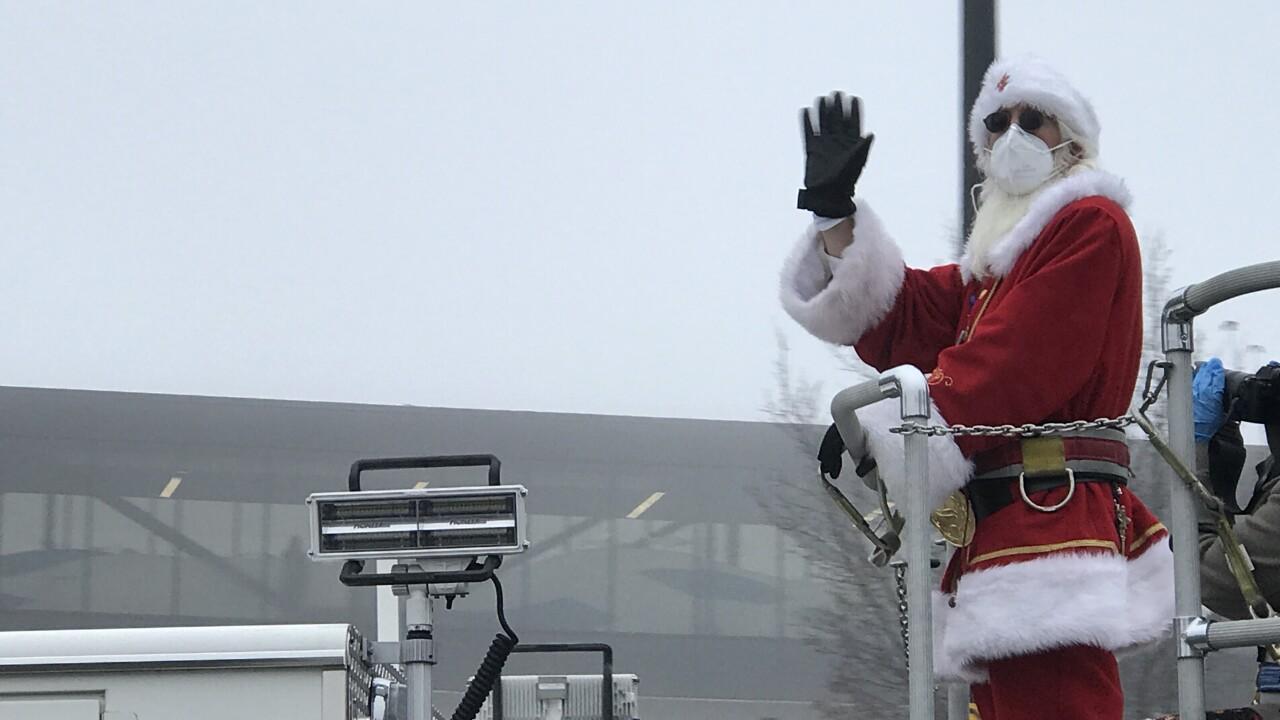 Santa visits St. Luke's Children's Hospital