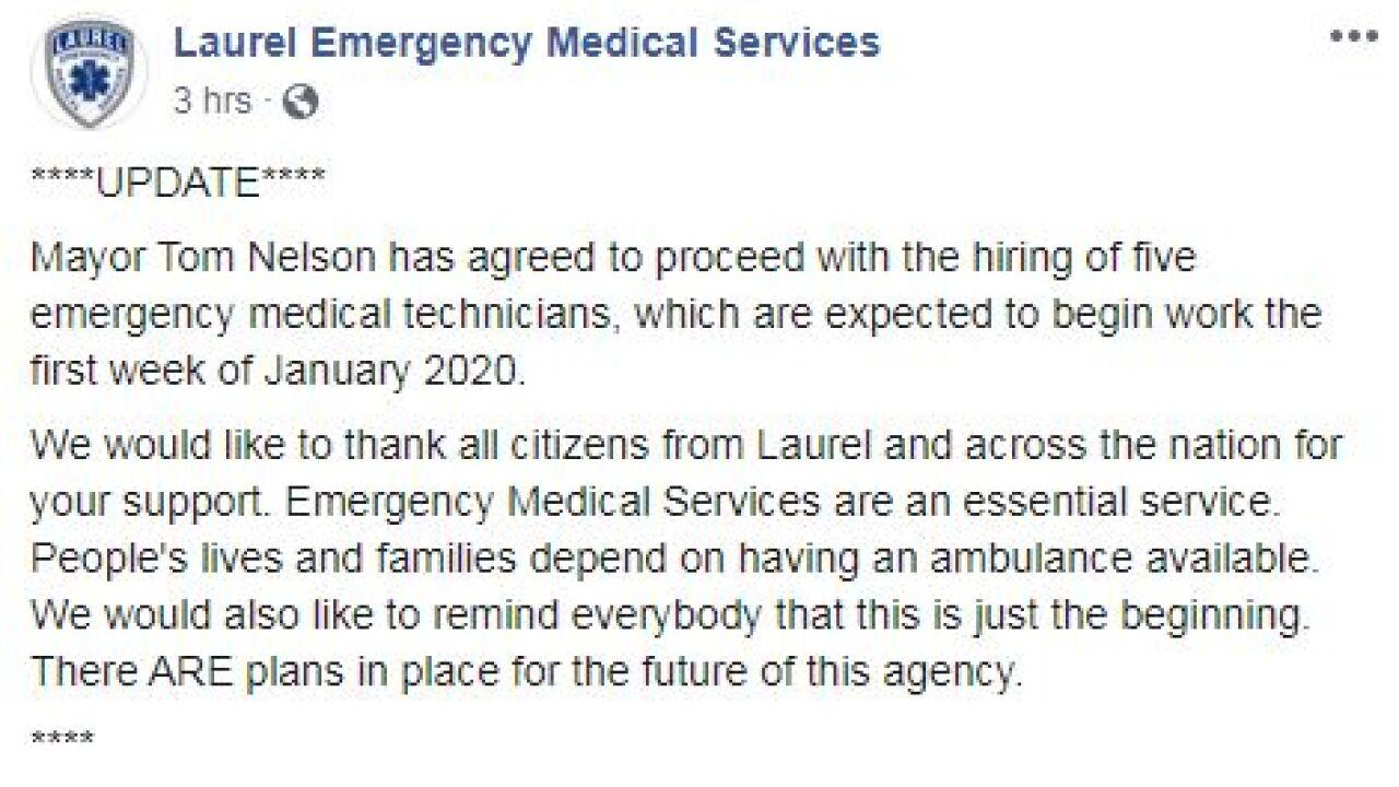 112619 Laurel EMS Update.JPG