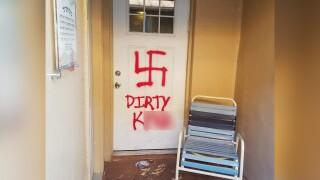 Chabad Synagogue vandalized.jpg