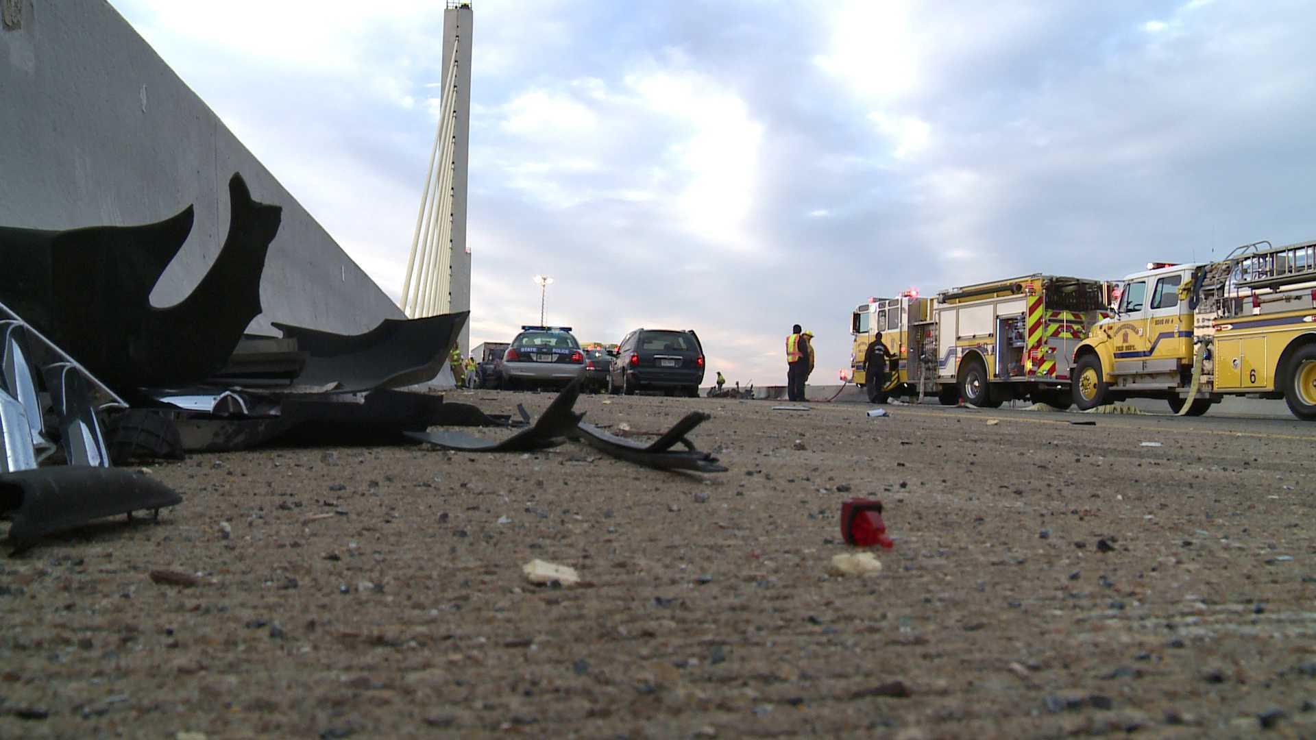 Photos: 1 dead after semi hauling frozen turkeys hits car on Varina-EnonBridge