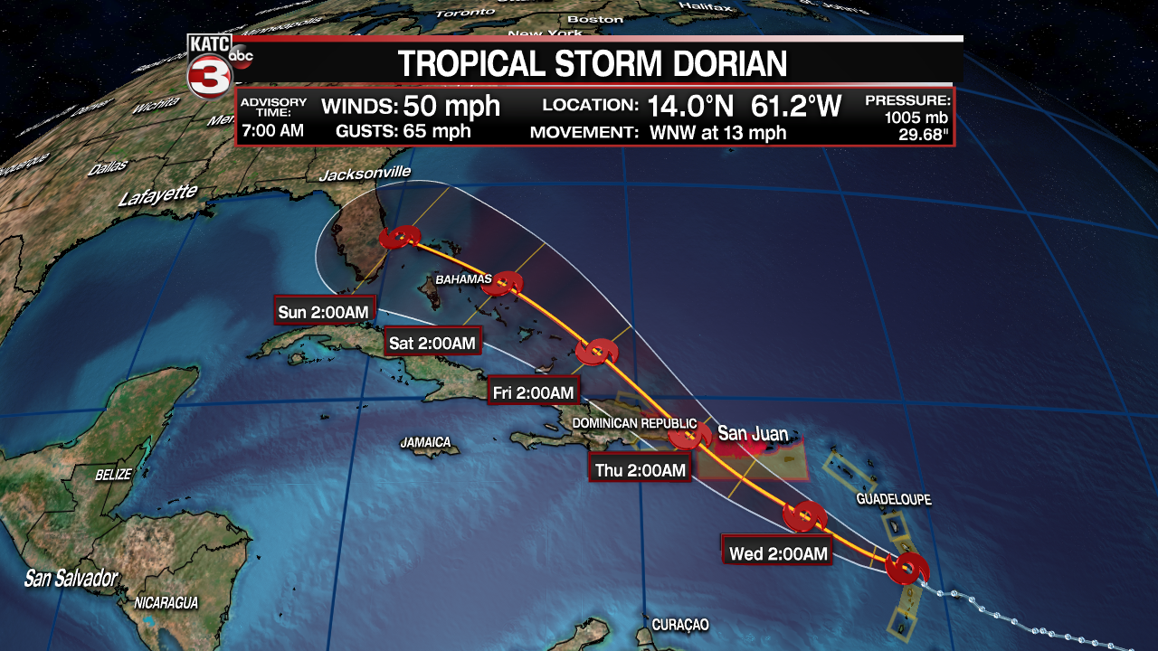 Dorian Is A Tropical Storm That S About All We Know