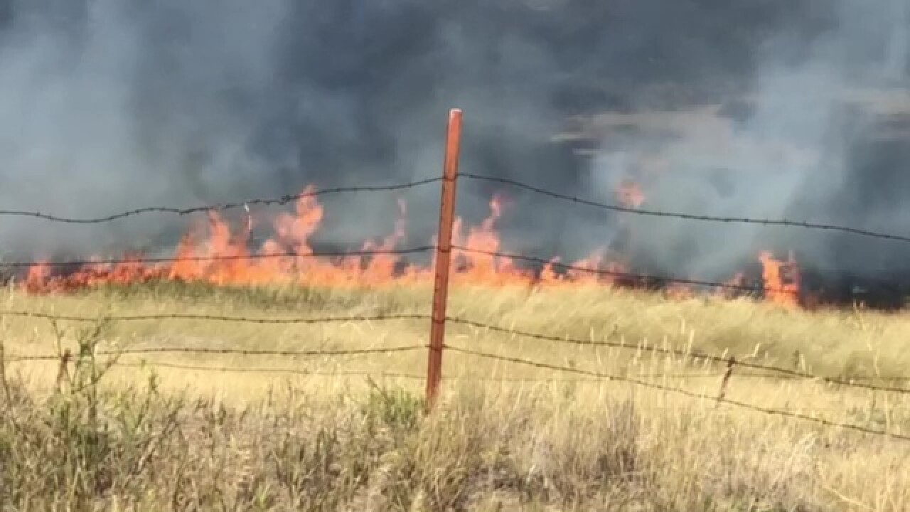 Crews fighting wildland fire NW of Great Falls