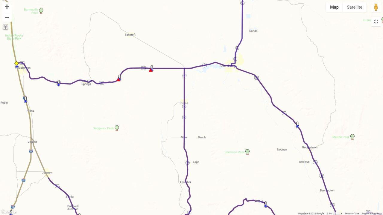 Us 30 Re Opened Between Lava Hot Springs And Soda Springs